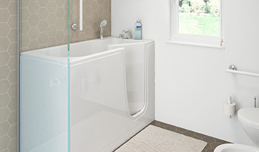 Bathtub with door for the elderly