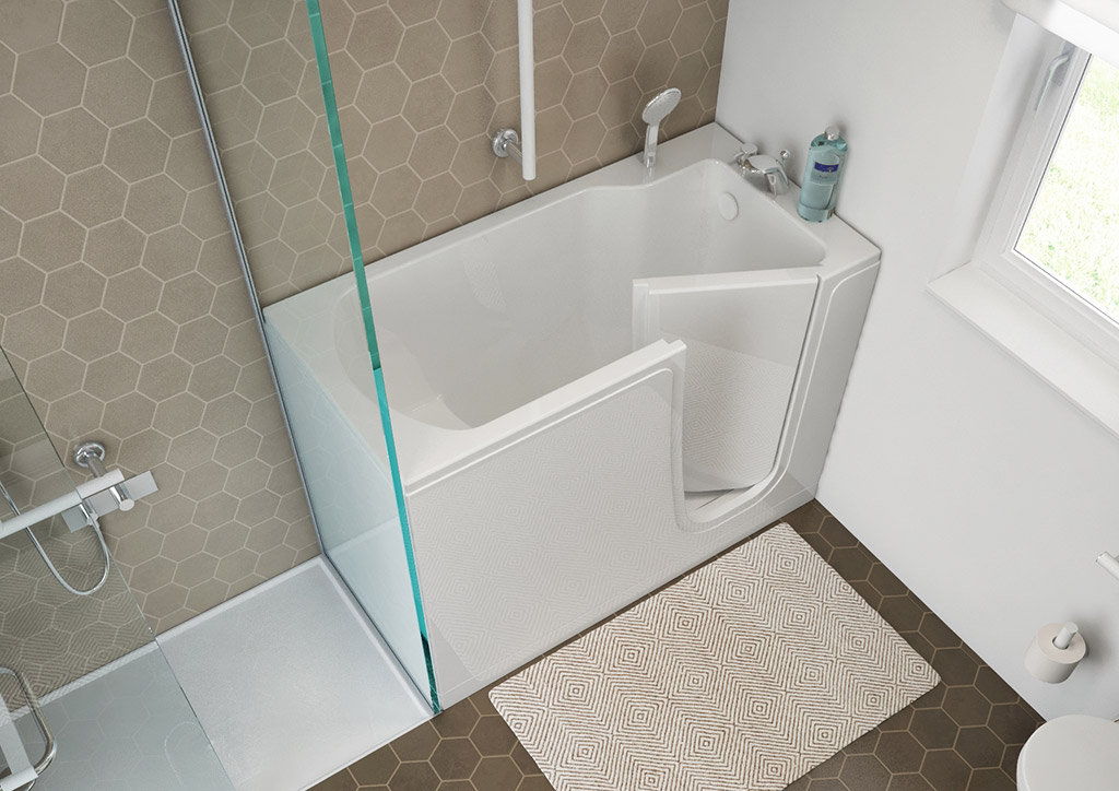 Bathtubs with door for the elderly goman - Vasche da bagno mini ...