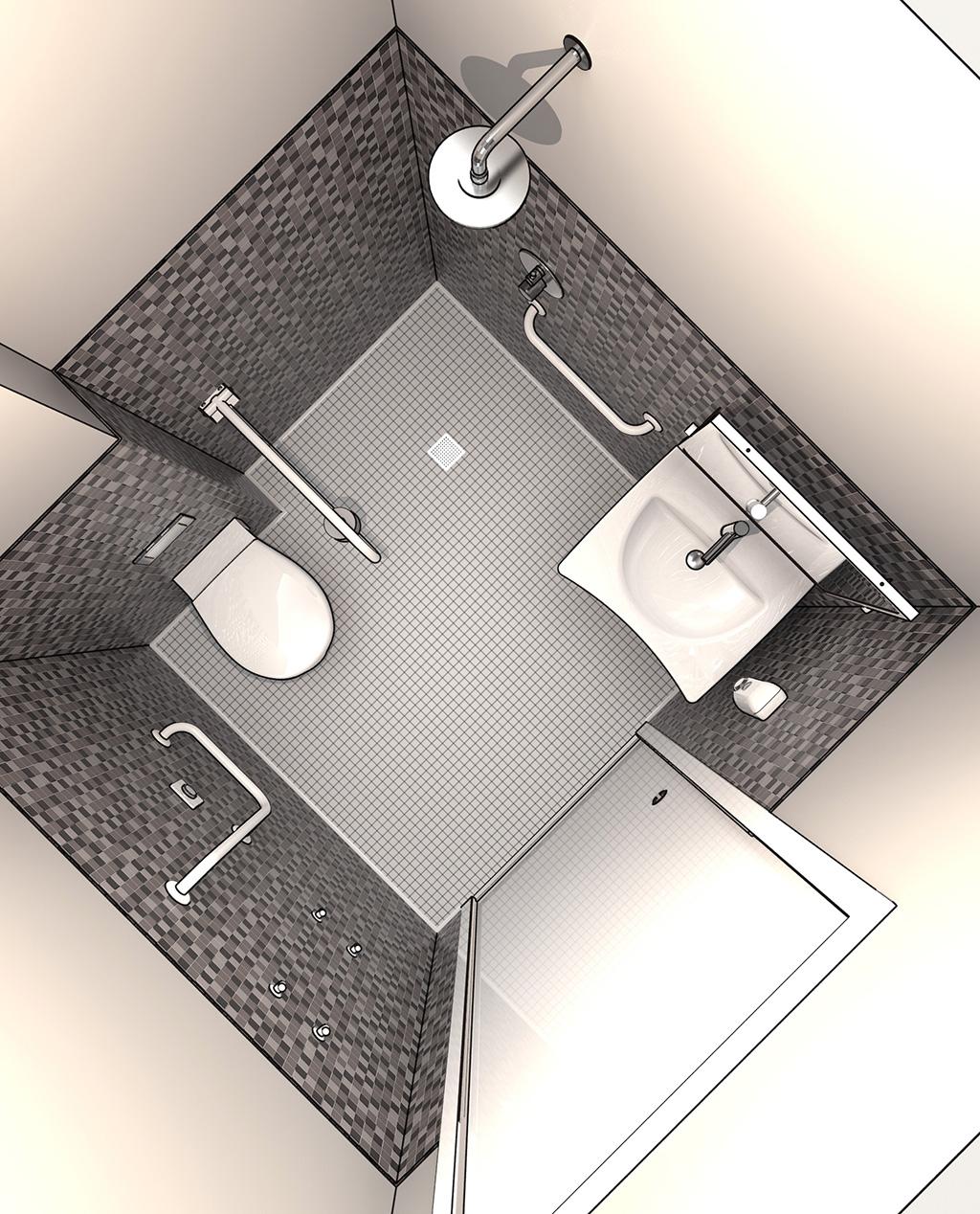 Bathroom for disable accessories for furnishing security - Normativa bagno disabili locali pubblici ...