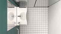 Bathrooms for disabled, serie Standardd