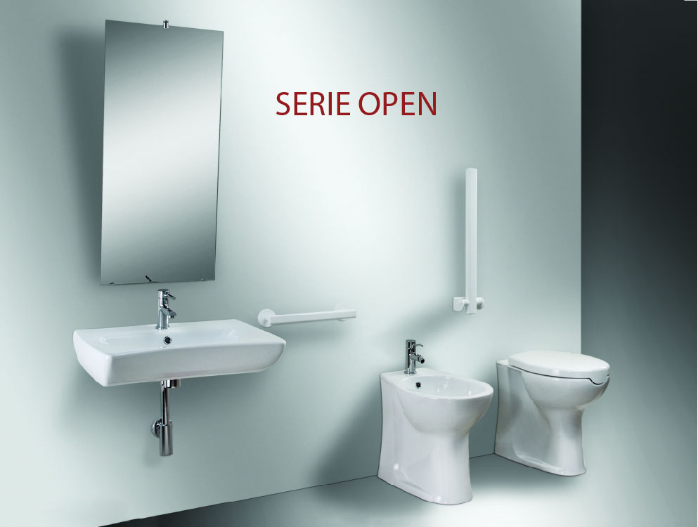 Bathroom for disable, accessories for furnishing security and elegance