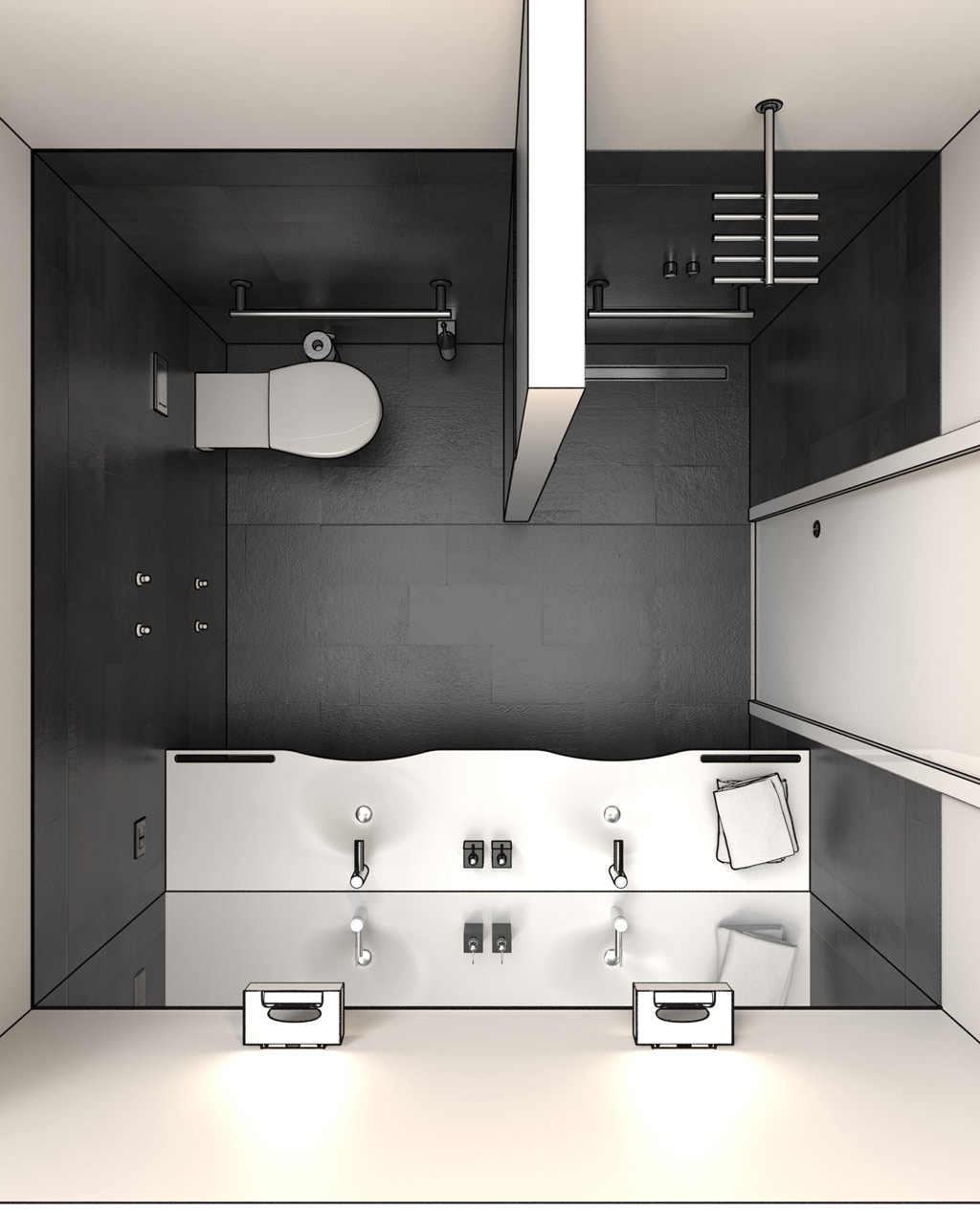 Disabled bathroom design dwg drawings in 3d - Planner bagno 3d ...